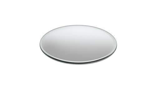 Vetrineinrete Specchio Rotondo Centrotavola smussato Decorazione tavola Matrimonio Segnaposto Vetro specchiato Tondo Riflettente per composizioni sottovaso D29 (15 cm)