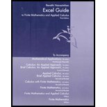 Excel Guide for Harshbarger/Reynolds' Mathematical Applications: For the Management, Life, and Social Sciences, 8th