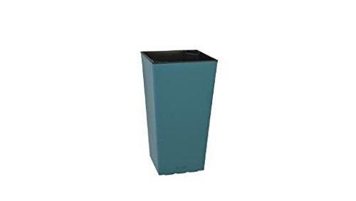 Plastkon Décoration Pot en Turquoise et Outdoor Pot Elise Brillance 15 cm