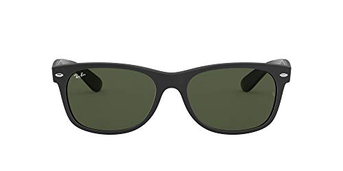Ray-Ban New Wayfarer Color Mix RB2132-646231-58 Gafas, Negro, 58 Unisex Adulto