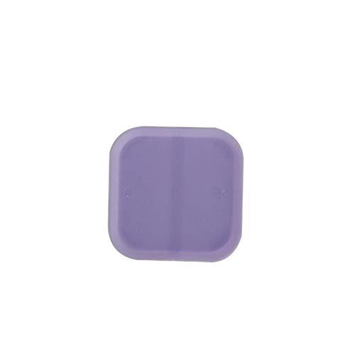 XINXI-YW Conveniente Bandeja Chasis Colorido macetas de 6 cm Mini Plaza Maceta De Plástico Bandejas Inicio Jardín Balcón Oficina Decoración del plantador Decorativo (Color : Purple)