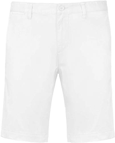 Kariban Bermuda Chino Homme - Blanc, 38 FR, Homme