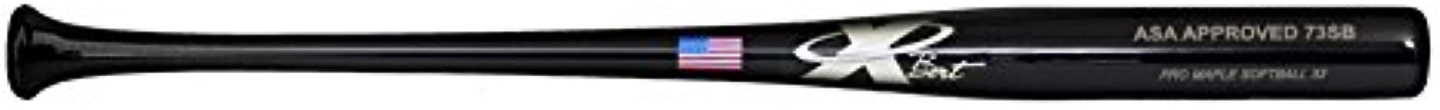 X Bats Pro Model 73SB - Wood Softball Bat - Maple - Black Finish - ASA Approved - (Fast Pitch/Slow Pitch)