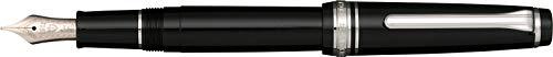 Sailor - Penna stilografica Pro Gear Slim Black | Penna in resina con raccordi in rodio, spessore pennino M | elegante confezione regalo