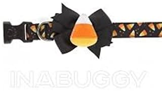 Thrills and Chills, Halloween Candy Corn Bow Tie Dog Collar ~ Medium~