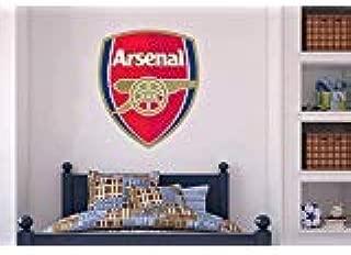 Official Arsenal Football Club - Crest Mural + Gunners Wall Sticker Set Decal Vinyl Poster Print Mural (90cm Height)
