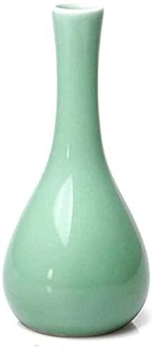 Vase Dekoration Vintage-Stil Keramikvase Wohnzimmer Veranda-Regal-Dekoration Dekoration Dekoration Dekoration Einrichtungsartikel Grün 19x7x1cm JXLBB