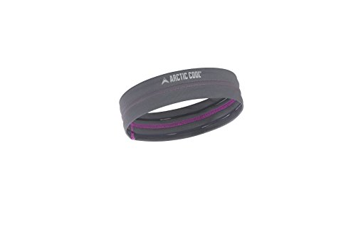 Arctic Cool Instant Cooling Headband Performance Tech Breathable Moisture Wicking Easy to Clean, Storm Grey
