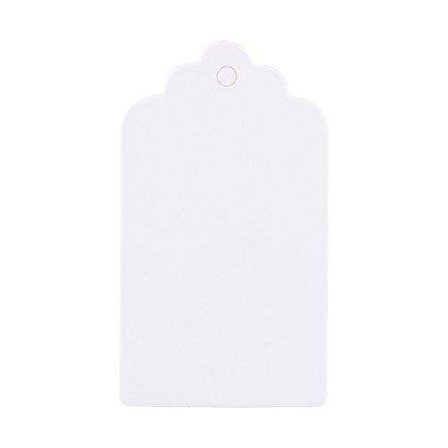 Dekaim 100x Blank Kraft Paper Hang Tags Wedding Party Favour Label Price Gift Cards