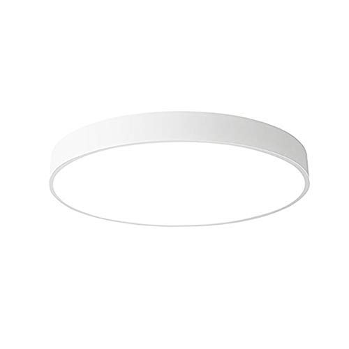 24W Deckenleuchte Deckenlampe warmweiß 3000K ultra dünn rund Lampe für Küche Diele Schlafzimmer(Weiß)