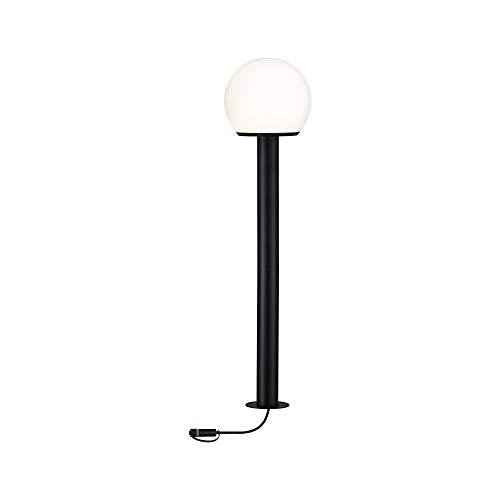 Paulmann 94321 Plug & Shine LED Außenleuchte Outdoor Poller Classic 24V Globe IP65 incl. 1x2 Watt dimmbar Außenleuchten Klar Aussenleuchten Metall Gartenbeleuchtung 3000 K E14, anthrazit