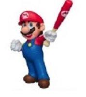 Nintendo Furuta Choco Egg Super Mario Sports Mini Figure~Mario Baseball bat