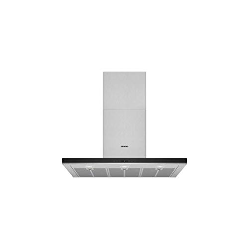 Siemens LC98BIP50 iQ500 - Campana decorativa de pared, 90 cm, 5 niveles de extracción, Metallic [Clase de eficiencia energética A+]