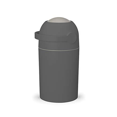 DUTUI Cubo De Pañales para Bebés, Bote De Basura Desodorante, Contenedor De Almacenamiento De Pañales, Bote De Basura Sellado con Tapa, Impermeable Y Desodorante,Negro