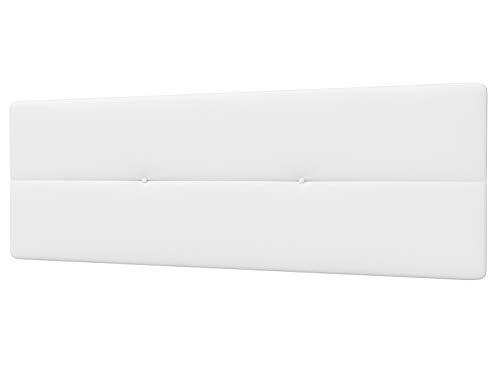 LA WEB DEL COLCHON - Cabecero Tapizado Genova para Cama de 135 (145 x 55 cms) Blanco | Cama Juvenil | Cama Matrimonio | Cabezal Cama | Cabeceros tapizados Dormitorio