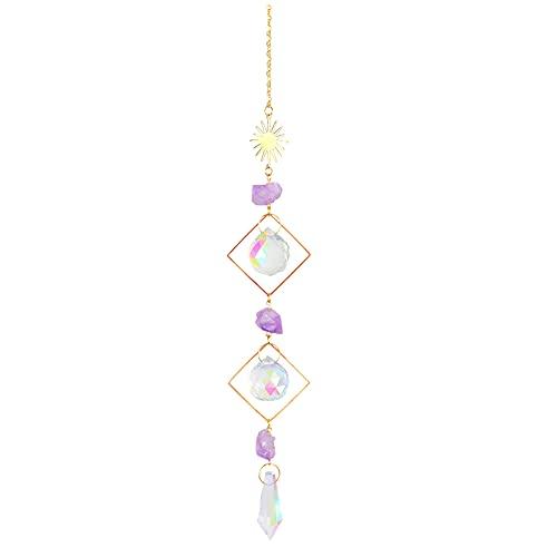 Cristal Sun Diamond Prismas Colgantes Arco Iris Chaser Iluminación Accesorios para Cortinas Colgante Hogar Jardín Coche Lámpara Decoración Regalos