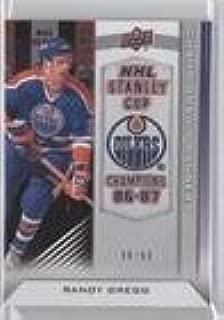 Randy Gregg #90/99 (Hockey Card) 2013-14 Upper Deck Edmonton Oilers - Championship Banners #CB-RG