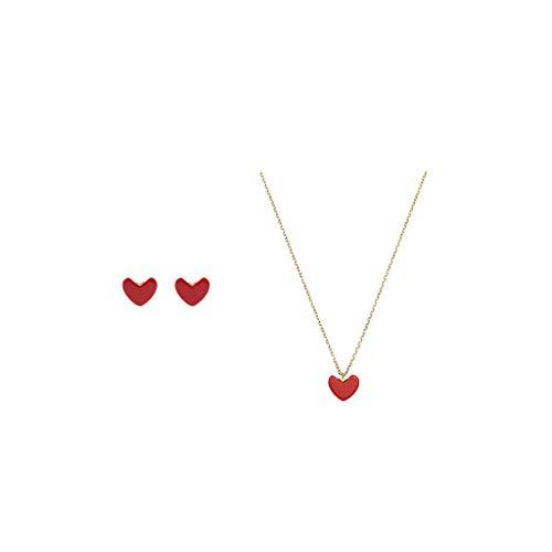 ZRJ Pendientes con forma de corazón y pendientes para mujer, regalo para fiestas, aniversarios, cumpleaños, etc