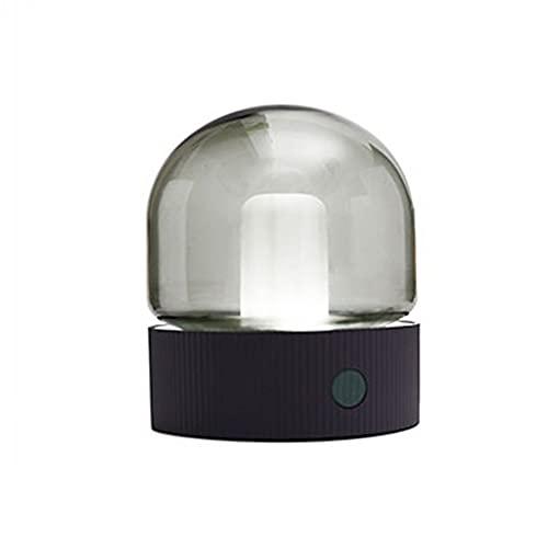 WQXD Luz Nocturna LED, botón de Carga USB Tienda DE Ajuste DE ADUCHIVE, para CORRIDORES Habitación para niños Lámpara de Noche (Color : Smoky Gray, Light Color : Two-Color)