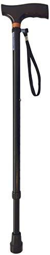 FabaCare Gehstock höhenverstellbar, Aluminium Spazierstock, Teleskopstock mit Holzgriff, Walking Cane