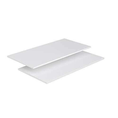 Vicco Kleiderschrank Comfort offen begehbar Regal Kleiderständer Schrank weiß (100er Einlegeboden)