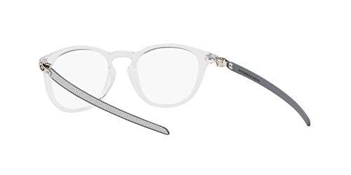 Oakley Men's Ox8149 Pitchman R Carbon Round Prescription Eyeglass Frames