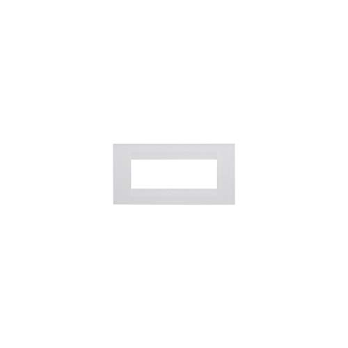 Gewiss GW16406TB Chorus Geo Placca, 6 Posti, Bianco