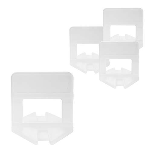 Lantelme 3 mm Zuglaschen 2000 Stk Fliesenverlegehilfe Boden Wandmontage Fliesen Nivelliersystem Verlegesystem Laschen 3-15mm 7019