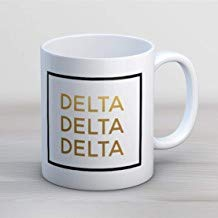 LECE Grappig van de beste Gift TriDelta Delta Delta Delta Faux folie mok Sorority koffie mok