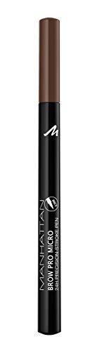 Manhattan Brow Pro Micro Pen Augenbrauenstift, in der Farbe 002 Soft Brown, Flüssiger Eyebrow Pencil mit ultra-präziser 0,2 mm Spitze, Für einen natürlichen Augenbrauen-Look
