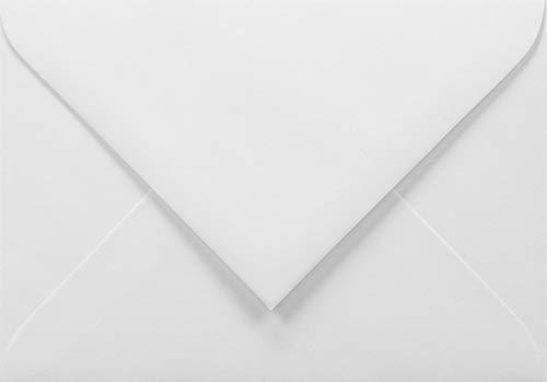 Netuno 500 mini buste lettera bianche formato C7 85x120mm 100g Amber buste piccole bianche per soldi biglietti da visita biglietti d'auguri buste porta soldi taglio a punta