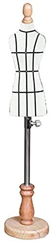 テーラーダミードレスフォームマネキン、調節可能な高さテーラーマネキンズ、女性の卓上マーカーダミー、ハウスアクセサリーの装飾 (Color : D, Size : 1/4)