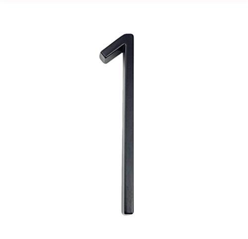 MISDD 125 mm / 5 Pulgadas Casa Flotante Número Grandes Letras del Alfabeto Moderno Puerta Inicio Negro al Aire Libre Números Dirección Placa de Tablero de Slash Entrar # 0-9 (Color : 1)