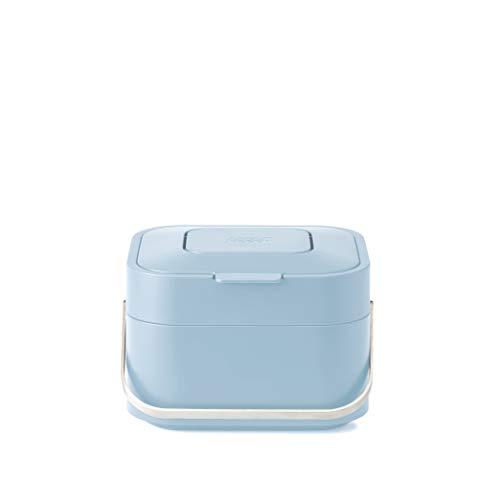 Joseph Joseph Stack 4 - Cubo de Basura con Filtro de Olor, Color Gris y Azul