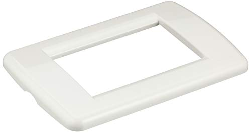 Vimar 16763.01 Placca Idea Rondò 3 Moduli in tecnopolimero, Bianco Brillante
