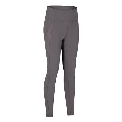 QTJY Pantalones de Yoga Suaves de Cintura Alta para Mujer Ajustados elásticos y de Secado rápido para Mujer al Aire Libre CS