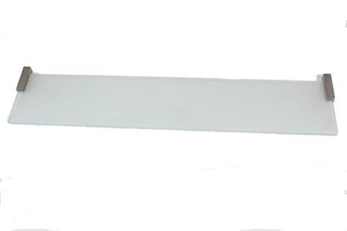 Badplank glazen plank hoekplank glazen plankdrager van roestvrij staal en glas gesatineerd