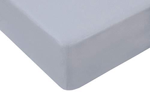 TM Maxx Jersey Spannbettlaken für Baby und Kinder mit Öko-Tex Standard (Grau 024, 80x180) Spannbetttuch aus 100% Baumwolle