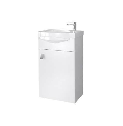 Planetmöbel Badmöbel Set Gäste WC Waschtischunterschrank Keramikwaschbecken Weiß