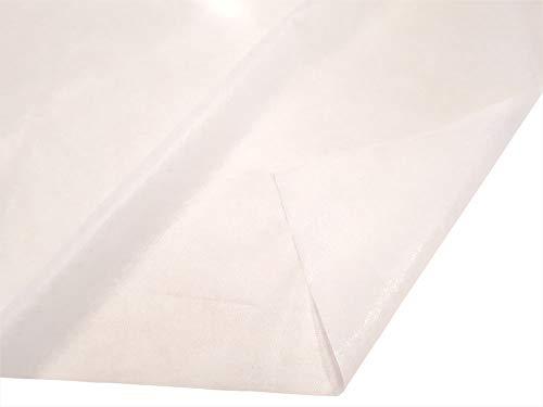Fashion-Sonderposten Bügelvlies Bügeleinlage Vlieseline beidseitig klebend aus 100% Polyester in Weiss, 45 g/m2, 90 cm Breite, 500 cm Länge