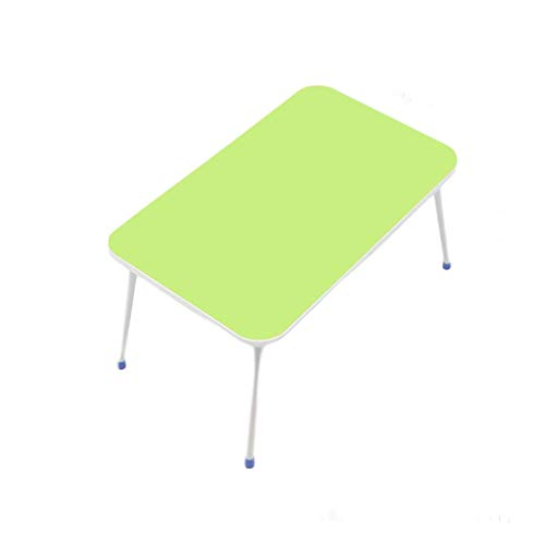 O&YQ Gateleg-Tisch/Klapptisch Klapptisch Kleiner Tragbarer Tischchen für Kleine Betten Laptoptisch Lazy Table Dormitory Study Writing Desk, Grün