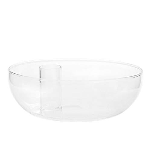 Storefactory - Lidatorp - Kerzenhalter/Kerzenständer - Glas - Maße (ØxH): 15 x 5 cm