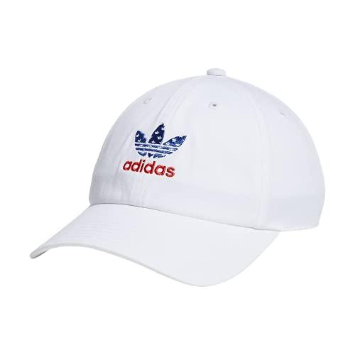 adidas Originals Gorra relajada Strapback - 975950, gorra con tirantes relajados, Talla única, Blanco