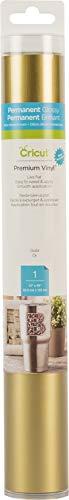Cricut 2006840 Premium - Vinilo permanente, Dorado, 12' x 48', 1, 1