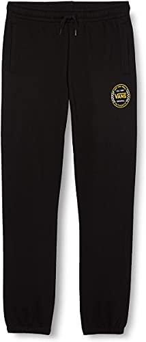Vans Authentic Checker Fleece Pant FT Boys Pantaloni da Tuta, Nero, XL Bambino