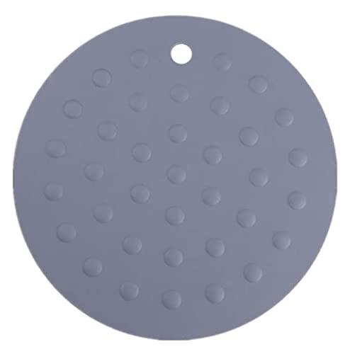 LBBZJM Posavasos Posavasos de Silicona, T (4-se estableció) Flaps de Dientes/Resistente al Calor, de fácil Cuidado, higiénico, diseño Moderno (Color : Grau)