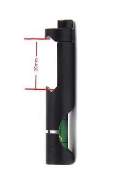 FMN-OUTILS, Rail de tisserand de picatinny de 11mm / 20mm avec le niveau de bulle d'esprit ajustement tactique de fusil/portée d'airgun pour des accessoires de chasse extérieurs (Color : 20mm)