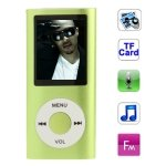 Seasiant India 1.8 inch TFT Screen Metal MP4 Player with TF Card Slot, Support Recorder, FM Radio, E-Book and Calendar(Green)