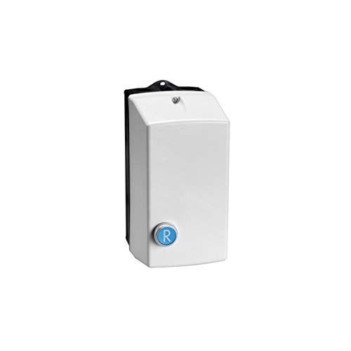 Arrancador directo sin relé en caja, con pulsador de reset, 32A 16kW 230V AC, 11,4 x 18,8 x 23,8 centímetros, color gris (Referencia: M2R03210230)