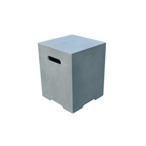 AMS 벽난로 ELEMENTI 콘크리트 스퀘어 프로판 탱크 커버 - ONB01-109